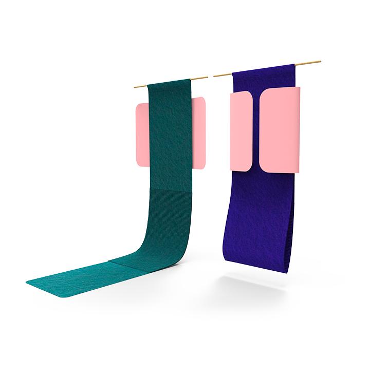 Ta-pi-pause : tapis décoratif vous invitant à venir faire une pause par Pauline Liogier & Julie Liogier