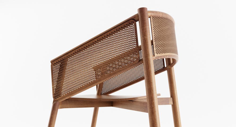 Wood U la chaise en bois par Alexandre Boucher